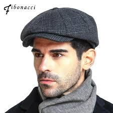 2019 <b>Fibonacci</b> 2018 New <b>Brand Quality</b> Wool Plaid Beret Hats For ...