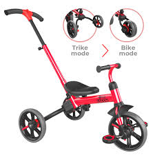 <b>Yvolution</b> Y <b>Velo Flippa</b> Red 4-in-1 Toddler Trike to Balance Bike ...
