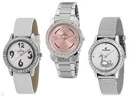Buy Dezine Analogue Multicolour Dial <b>3 Pcs</b> Combos Quartz <b>Watch</b> ...