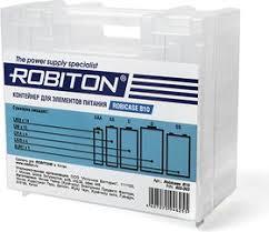 Robicase B10, <b>Контейнер для хранения</b> элементов питания ...