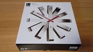 ОНЛАЙН ТРЕЙД.РУ <b>Часы настенные</b> Umbra <b>Ribbon</b> сталь ...
