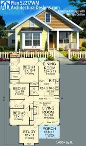 ideas about Cottage Floor Plans on Pinterest   Floor Plans    Plan WM  Care  Cottage   Garage Option