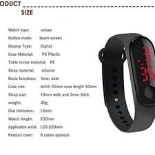 M3 Touch <b>Led Bracelet Digital</b> Watch Band - Sale price - Buy online ...