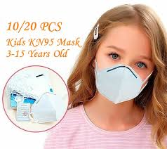 <b>10 PCS</b> Child <b>KN95 Mask</b> 3 to 15 Years Old <b>High</b> Level Protection ...