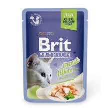 Купить со скидкой <b>Паучи Brit Premium Jelly</b> Trout fillets для кошек