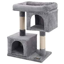 Buy SONGMICS <b>Cat Tree with Sisal</b>-Covered Scratching Posts and ...
