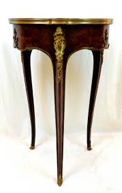 19th Century <b>French</b> Round <b>Side Table</b> with Ormolu and Marble ...