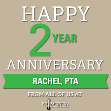we have another year work anniversary this month we have another 2 year work anniversary this month congratulations rachel pta