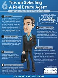 tips on selecting a real estate agent ly 6 tips on selecting a real estate agent infographic