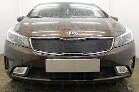 <b>Защита радиатора</b>, <b>чёрная</b>, <b>верх</b> KIA Cerato 2016-2018: продажа ...