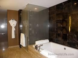 bathroom suite mandarin: bathroom of a strip view suite at the mandarin oriental hotel in las vegas