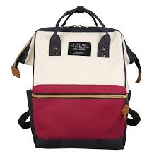 Japan and Korea <b>Women Waterproof Nylon Backpacks</b> Teenager ...