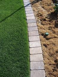 patio block edging bricks paver mow strip for garden edging so tired of having to rely on string