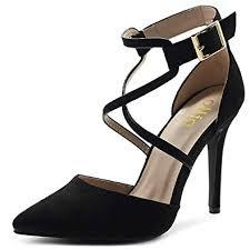 Ollio Women's Shoes Faux Suede Ankel Buckle ... - Amazon.com