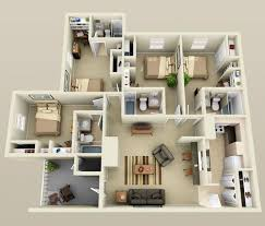 Bedroom apartment  Apartment floor plans and Apartments on Pinterest Bedroom small house plans D smallhomelover com