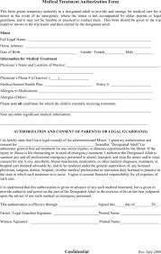 authorization for minors medical treatment permission letter for medical treatment
