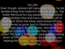 was andrew jackson a hero or a villain essay  was andrew jackson a hero or a villain essay