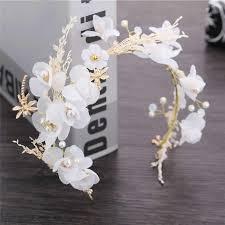 Silver Bridal Headwear Crystal Pearl Wedding Accessories <b>Hair</b> ...
