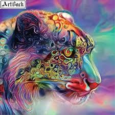 ArtBack Animal 5d diy Diamond Painting Leopard Full Square Color ...