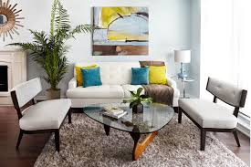 small apartments big style small eclectic living room photo in other with blue walls chairs middot cool lounge