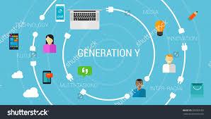 generation y smartphone generation millennials stock vector generation y or smartphone generation or millennials