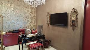 vintage elements and contrasting textures create a fabulous home office design jmg audio video chic vintage home office