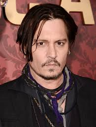 Johnny Depp  - 2018 Brown/Black hair & casual hair style.