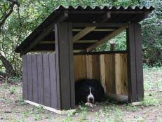 How to Build a Simple A Frame Doghouse   how tos   DIYHow to Build an Open Air Doghouse Steps