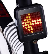 <b>Fully Intelligent Steering</b> Brake Tail Light Flasher Lamp Bicycle ...