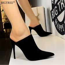 Summer shoes Women <b>BIGTREE</b> mules Slippers Womens high ...