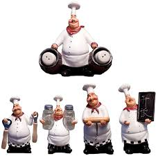 Retro Chef Model <b>Home Decoration Accessories</b> Resin <b>Crafts</b> Mini ...