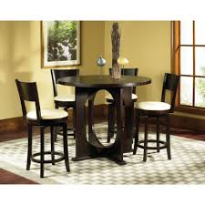 Tall Dining Room Sets Tables Sets Pines Pc Counter Height Dining Set In Black Table