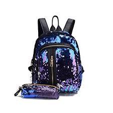 Donalworld Women Glitter Sequin Backpack Set ... - Amazon.com