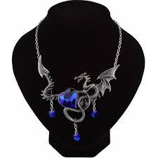 Винтаж Fly Dragon Цепочки и ожерелья красные, синие ...