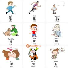 mandarin chinese words list verbs touchchinese action 1