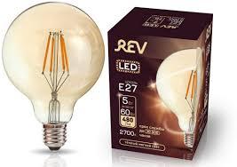 "<b>Лампа</b> светодиодная <b>REV</b> ""<b>Filament</b>"", G95, теплый свет, цоколь ..."