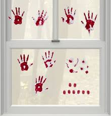 <b>Bloody Hand</b> Print Wall Decals | Party City