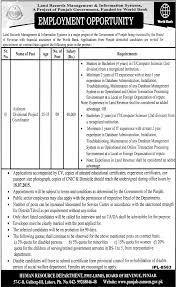 job opportunity in board of revenue punjab lahore 2nd 2015
