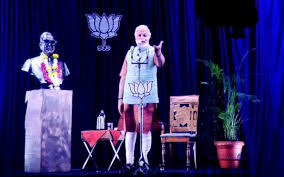 the modi effect how elected a hologram narendra modi during a live 3d hologram telecast in mumbai 2014