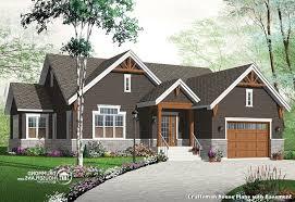Craftsman House Plans   Basement   Classique Façade   Façade    Craftsman House Plans   Basement   Craftsman Façade