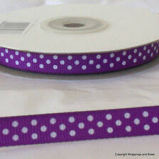 Purple <b>Polka Dot Ribbon</b> for sale | eBay