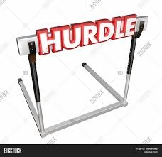 hurdle word in 3d red letters on an obstacle to overcome in a race hurdle word in 3d red letters on an obstacle to overcome in a race challenge