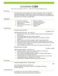 summary for resume sample  seangarrette coarmed security guard resume sample summary highlights   summary for resume sample