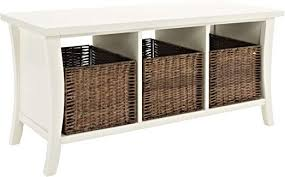 Crosley Furniture Wallis <b>Entryway Storage</b> Bench, <b>White</b>: Amazon.ca ...