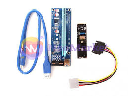 <b>Аксессуар Адаптер Espada</b> M2 to PCI-e x16 4pin USB <b>Riser</b> card ...