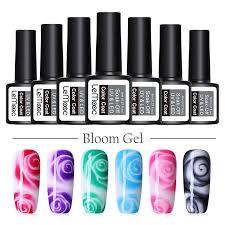 LEMOOC 8ml Nail Blossom <b>Gel</b> Clear White Blossom Painting <b>Gel</b> ...