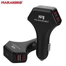 Marakoko M-CC02 <b>High Power 50W</b> / 10A 4-<b>Port</b> USB Car Charger ...