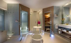 architecture bathroom toilet: large modern bathroom with separated shower cabin and toilet