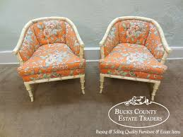 images hollywood regency pinterest furniture: hollywood regency style vintage barrel back chairs w upholstered cushions