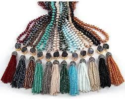 KBWL <b>Fashion Bohemian Tribal</b> Jewelry Multi Glass Knotted Crystal ...